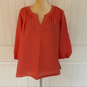 Vineyard Vines orange blouse size large